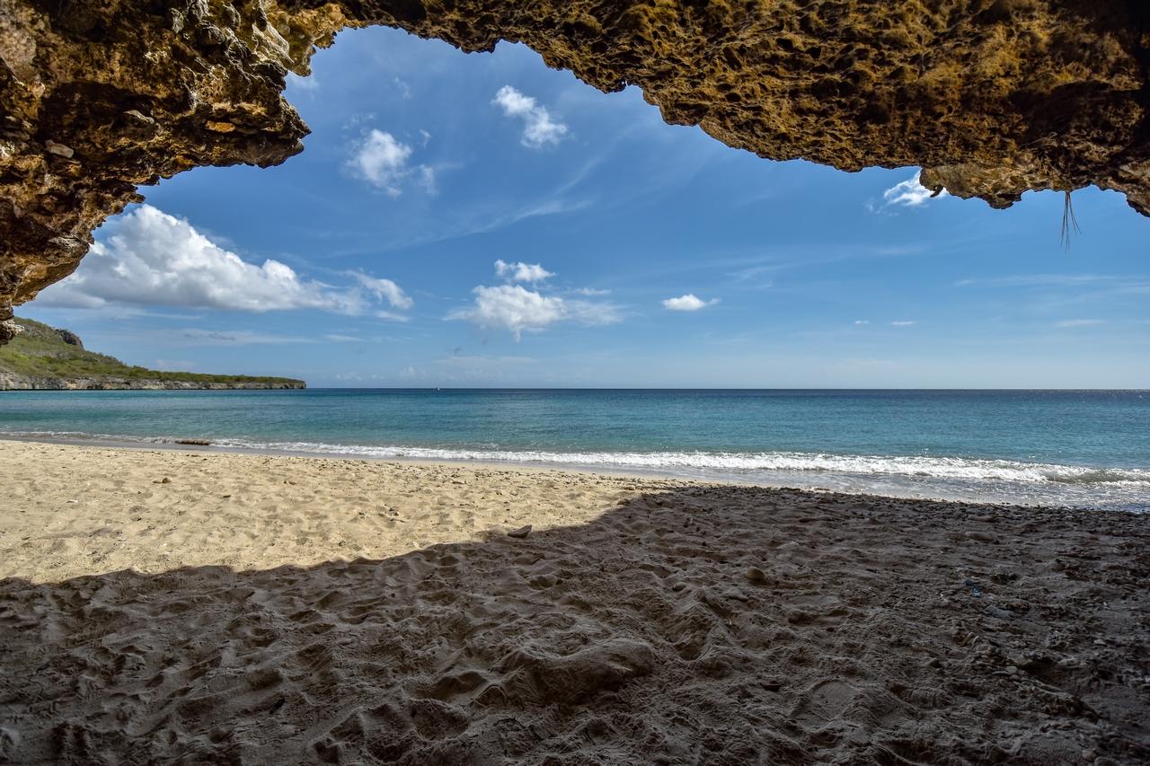 Naturstrand Playa Manzalina, Karibik, Curacao