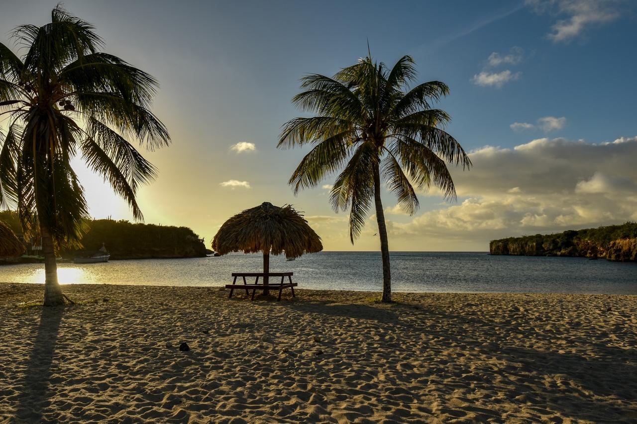 Strand Playa Santa Cruz, Karibik - Curacao