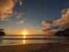 sonnenuntergang am Strand Playa Jeremi, Karibik - Curacao