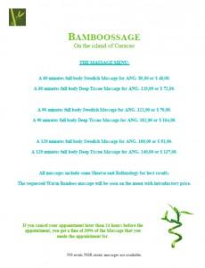 bamboossage menu list