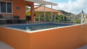 villa coconut pool