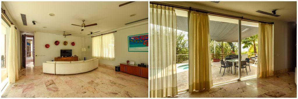 Luxusvilla auf Curacao Wohnbereich